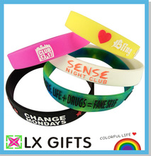 Embossed and Printed Silicone Bracelets/ Silicone Wristbands