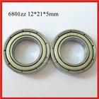 Clutch thin wall deep groove ball bearing 6801zz/2rs 12x21x5mm
