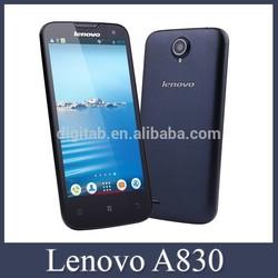 Original 5.0inch Lenovo A830 Phone MTK6589 Quad Core 1GB/4GB Dual SIM Dual Cameras Support WCDMA 3G WIFI GPS Lenovo Smartphone