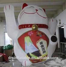 new customized inflatable lucky cat/Inflatable Maneki Neko
