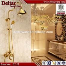bathroom lead free golden faucets, 4/5 star hotel gold color shower set, gold shower hose best copper in china market