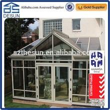 Eco-friendly insulated glass triangle aluminum profile sunrooms