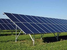 Solar station ground panel rack