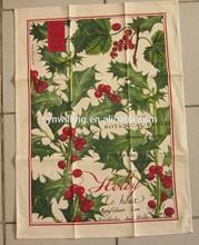 cheap wholesale organic cotton custom printed walmart kitchen towels