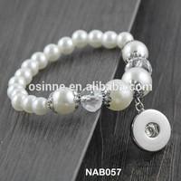 Stock China alibaba personalized DIY women handmade beaded snap bracelet DIY NAB057