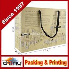 Cheap Brown Paper Bag with Handle/Brown Kraft Paper Bag/Coffee Bag(220067)