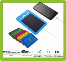 2015 fashion whole silicone shell portable solar charger bag power pack for mobile phones
