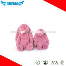 2015 lovely cute pink/black/white plush stuffed bunny rabbit