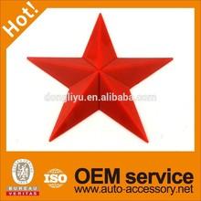 Plastic red star badge emblem