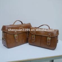 2015 New Design European Style Genuine Leather Camera Bag,Retro Shoulder DSLR camera bag