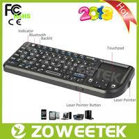 810mA Rechargeable Battery Bluetooth 3.0 Mini Wireless Keyboard for smart tv