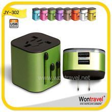 New generation CE FCC RoHS approved airline bank gift american travel plug
