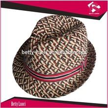 Unisex Fedora Straw Hats/Wide Brim Trilby Cap/Summer Casual Sunhat