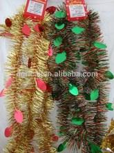 Fashion Printed PET PVC Metallic Glitter Christmas Tinsel
