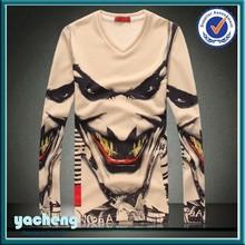 Esqueleto design de moda impresso t-shirt fotos em 3d para t-shirt manga comprida 3d animais t camisa