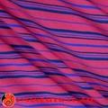 de color rojo y azul raya diseño lycra spandex tela