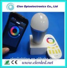 2015 intelligent wifi control rgbw bulb led/smart energy led bulbs light e27 9W