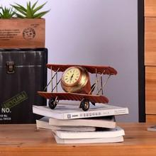 zakka grocery retro biplane model crafts creative home accessories ornaments fashion metal airplane model
