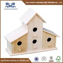 New unfinished garden decoration wooden bird house