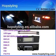 Canbus No Error Code license lamp for BMW E87 LCI LED license plate light car led light/ auto license plate/car LED light