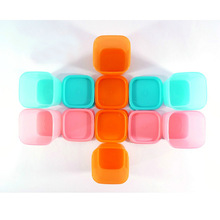 Creative kitchen plastic candy color vegetable food storage container