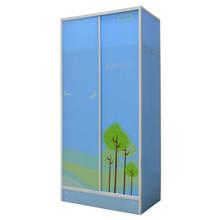 Non-woven double doors bedroom furniture wardrobe DIY KD colorful furniture bedroom
