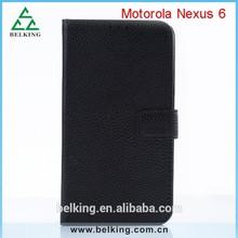PU Wallet Flip Case For Moto Nexus 6, Stand Leather Folding Case For MOTO Nexus 6