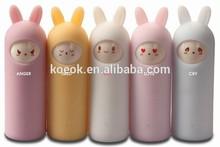 KOEOK DIY cute rabbit power bank private make design for 2200mah