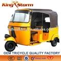 2014 venda quente e de alta guality bajaj triciclo de passageiros/3 motocicleta roda/motorizada trike
