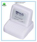8.5x7.3x7cm promotional gifts PU foam stress reliever computer shape