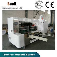 automatic vacuum type feeder cardboard sloting and slice corner ,press the line machine /slotter paperboard machine