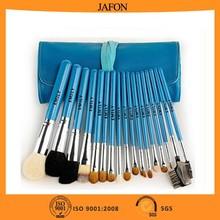 17pcs Private label professional natural make up brushes