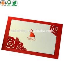 Red flower cutout creative handmade happy birthday greeting card