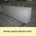 china preço barato brilho branco bancada pedra de quartzo