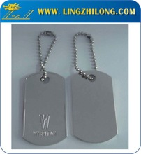 Art & Collectible Use and Metal Material Stainless Steel Dog Tag Silencer Jewelry