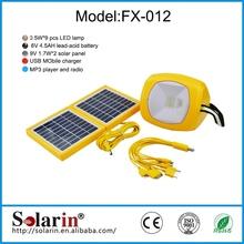 Energy saving high power led solar lighting kit 5w