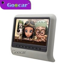 "Super mini slim USB / SD / IR FM 10"" car headrest mount portable dvd player"
