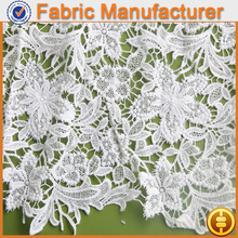polyester fabric price kg lace trimming embroidery fabric dress designs chemical lace