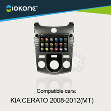 wifi 3g internet capacitive android car radio dvd player with GPS system for KIA CERATO manual 2008-2012