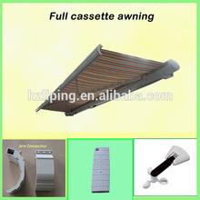 100% UV Protection aluminum frame retractable folding arm awning