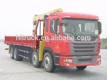 Hot sale JAC 8*4 14-16T dump truck with crane