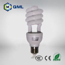 5w/7w/9w/11/13/15w half sprial energy saving bulb factory