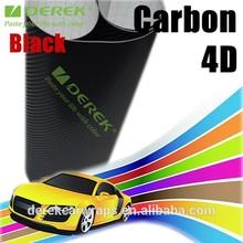 Fashion sports car badges black carbon fiber vinyl wrap for cars film material