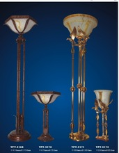 Energy Saving Floor Lamp Iron Material and Room Usage Glass Lamp Body Classic
