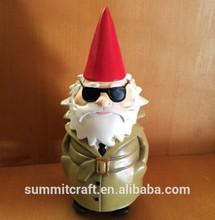 Fashion Santa beard design resin painting christmas character ornament