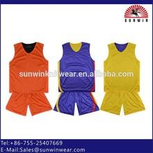 Custom plain blank reversible basketball jersey sport training basketball uniforms set tracksuit