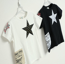 "Hot sale o-neck t-shirt for kids, sa,me design with film"" who comes from the star"""