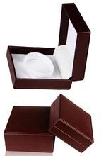 FASHION BROWN LEATHER BRACELET STORAGE BOX, SINGLE WATCH BOX