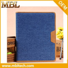 Newest Jeans Genuine Business Flip Leather Case for iPad mini From China Supplier