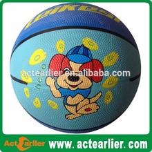 mini colorful kids rubber basketball